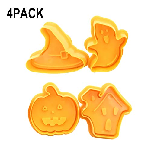 Simple Halloween Cookie Decorating (Halloween DIY Cake Decorating and Baking Kit Tools Plastic Cookie Cutting Molds, Cake Decorating Gumpaste Fondant)