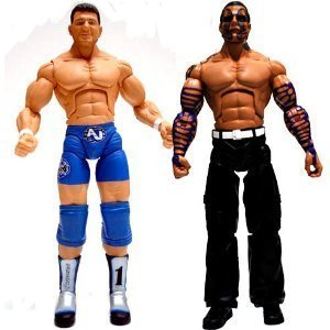 (TNA Wrestling Cross the Line Series 3 Action Figure 2Pack AJ Styles Jeff Hardy by Wrestling)