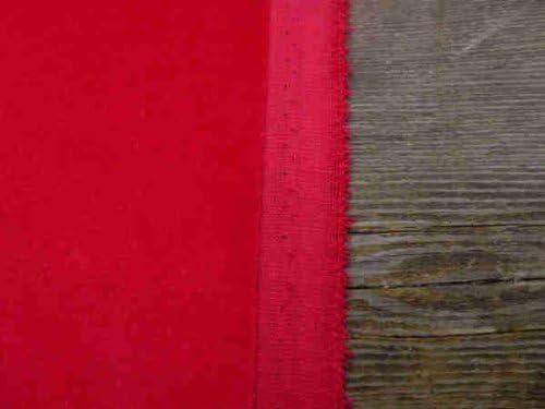 Scarlett rojo de terciopelo de algodón tejido: por metro: Amazon ...