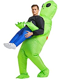 Inflatable Alien Rider Costume Halloween Costume for Adults and Kids Inflatable Costumes Cosplay Party Dress Up