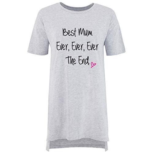 Slogan Makeover Best Pyjama De Nuisette Mum Limited Mères Éternel Nuit Des Ami 60 Femmes Second Gris Chemise Fête p54wxUt8nq