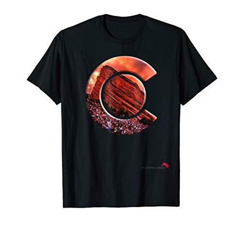 Red Rocks Shirt - Colorado State Flag T-Shirt ()