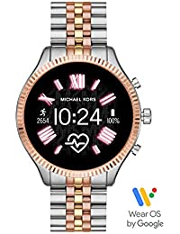 Lexington Touchscreen Stainless Steel Smartwatch, Tri-Tone Rose/Gold/silver-MKT5080