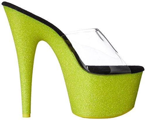 Pantolette ADORE-701UVG - sexy High Heels von Pleaser mit Glitter und UV Reaktion