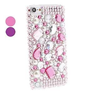 Colorful Rhinestones Style Hard Case with Pearl for iTouch 5 (Assorted Colors) , Pink