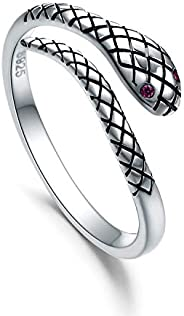 WINNICACA 925 Sterling Silver Toe Ring, Hypoallergenic Adjustable Band Ring Roses Open Ring with Retro Oxidati
