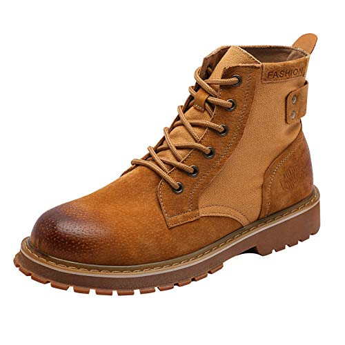 And Martin With Aimenga Yellow Winter New Men's Autumn top High Shoes Leather Thick Boots Focus Fashion q7A7x18f