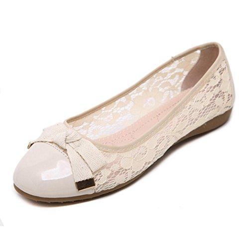 Transer® Damen Flach Mokassins Frühling/Herbst Casual Schuh PU-Leder+Dichotomanthes Sandelholz Slipper(Bitte eine Nummer größer bestellen. Vielen Dank!) Khaki
