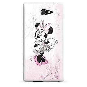 Sony Xperia M Funda Silicona Case Protección cover Disney Minnie Mouse personalizada Regalos
