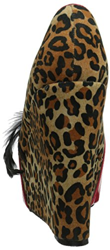 Bettie Page Womens Edna Pump Leopard