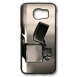Custom Case, Sakuraelieechyan Black Sides Hard Shell Case for Samsung Galaxy S6 With Lighter 04