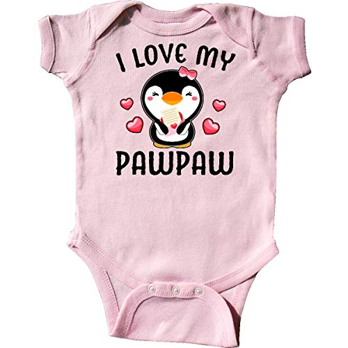 inktastic - I Love My Pawpaw with Cute Penguin Infant Creeper Newborn Pink 342f5