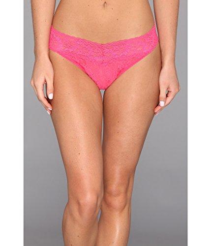 (Hanky Panky Women's Signature Lace Original Rise Thong Vivid Coral Thongs One Size )