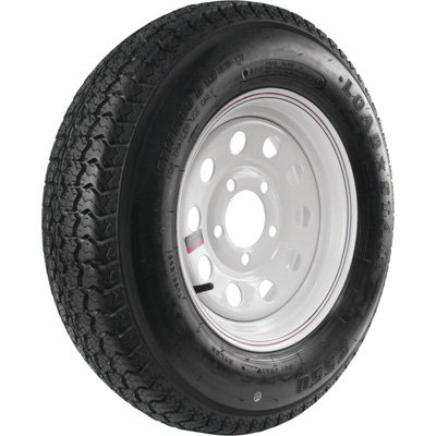 - 5-Hole High Speed Modular Rim Design Trailer Tire Assembly - ST175/80D-13