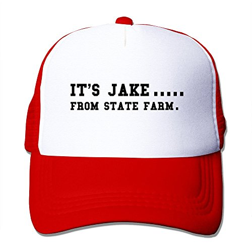 Bekey Fashion Its Jake From State Farm Hat Cap Front Fashion Printed Red