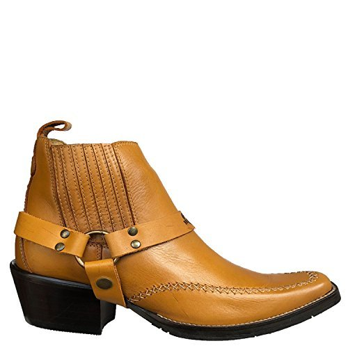 Brunello's Men's Genuine Leather Snip Toe Western Boot- Low Cut In Latigo Desert Color by Taben Western Products Inc