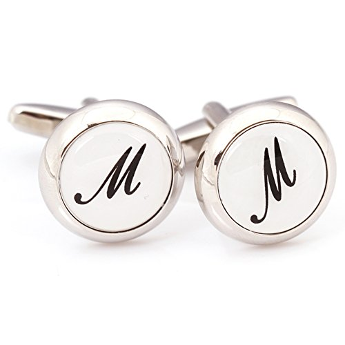 Digabi Jewelry Initial Cufflinks (Alphabet Letter) by Men