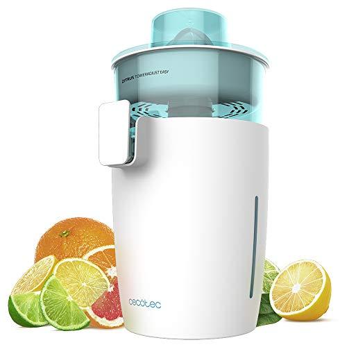 Cecotec exprimidor naranjas eléctrico Zitrus TowerAdjust Easy. Potencia 350 W,Filtro regulador de Pulpa,2 Conos…