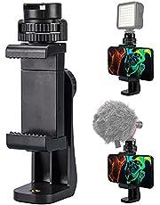 Lammcou statief smartphonehouder, 360 rotatie statiefadapter voor mobiele telefoon met koude schoenhouder + gsm-trigger voor iPhone, Samsung, Huawei & statief Monopod stabilisator selfie stick gsm-houder