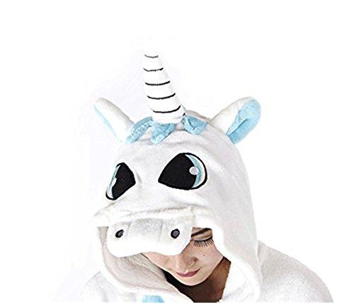 Blu Adulto Coda 150cm Costume Cosplay Tuta Intera S con Botton Blu Carnevale Pigiama chuangminghangqi Unisex Attrezzatura 158cm Flanella Cerniera altezza Taglia Halloween Unicorno f8Zwt1Hqx