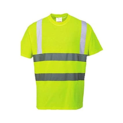 Hi-Vis Camiseta Portwest S478 talla 3 XL color Amarillo