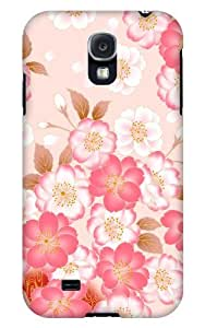 Case Fun Samsung Galaxy S4 (I9500) Case - Vogue Version - 3D Full Wrap - Japanese Flowers