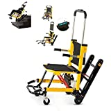 ZXL Medical Motorized Stair Chair,Emergency Transport Stair Lifting Evacuation Chair Load Capacity: 440 Lb. Yellow