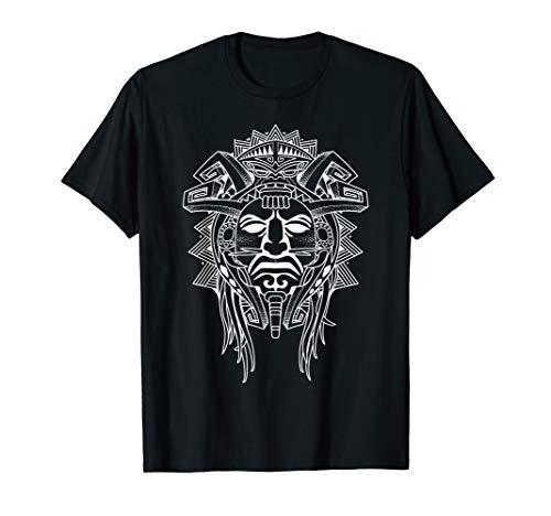 (Tribal Aztec Indian Warrior Tattoo Art Tshirt.)