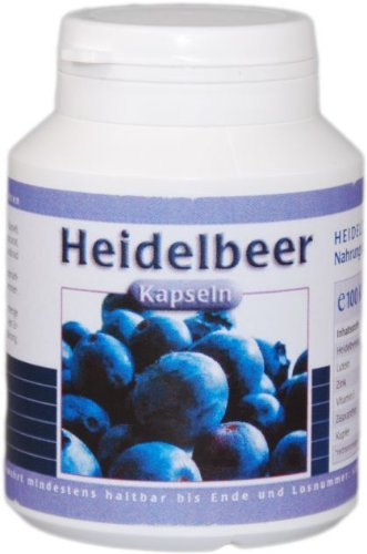 Bilberry 100 Capsules German pharmacy production