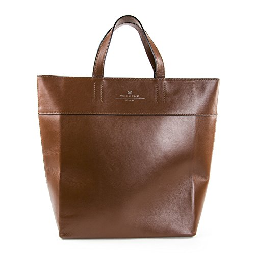 Weekend Max Mara Women's Blocco Leather Tote Bag One Size Tobacco