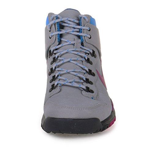 Nike Herren Dunk High OMS PRM Wolf Grau / Rave Pink-Foto Blau Suede Größe