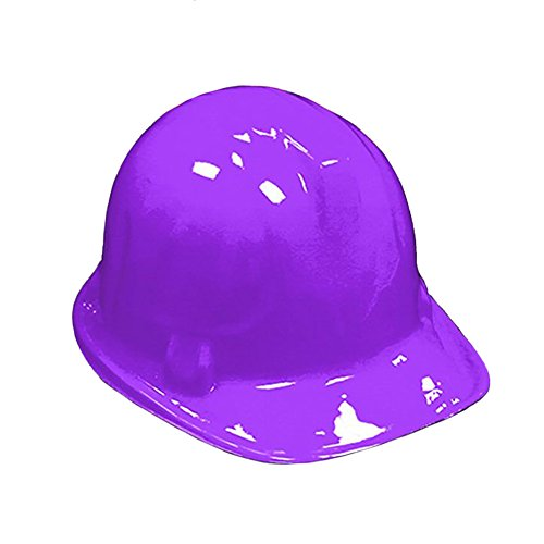 Windy City Novelties Purple Plastic Construction Hard Hats - 6 Pack ()