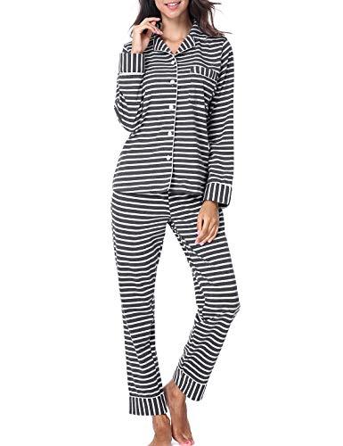 RIKILIO Women's Pajamas Set 2 Piece Classic Sleepwear Soft Pj XS-XL