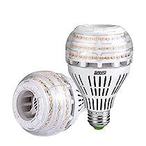 27W (250 Watt Equivalent) A21 Dimmable LED Light Bulbs, Super Bright 3500 Lumens, 3000K Soft Warm White Bulb, 270° Omni-Directional Light, E26 Base LED Floodlight, 5-Year Warranty, SANSI (2 Pack)