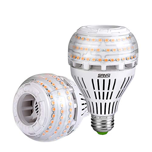 27W (250 Watt Equivalent) A21 Dimmable LED Light Bulbs, Super Bright 4000 Lumens, 3000K Soft Warm White Bulb, 270° Omni-Directional Light, E26 Base LED Floodlight, 5-Year Warranty, SANSI (2 Pack)