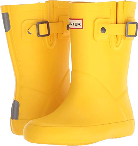 Hunter Kids Womens Flat Sole (Toddler/Little Kid) (11 M US Little Kid, - Yellow Rain Boots Hunter