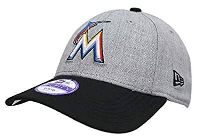 "Miami Marlins New Era 9Forty MLB Youth ""League Heather"" Adjustable Hat"