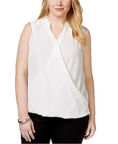 INC International Concepts Plus Size Sleeveless Surplice Top (1X-Large) from INC International Concepts