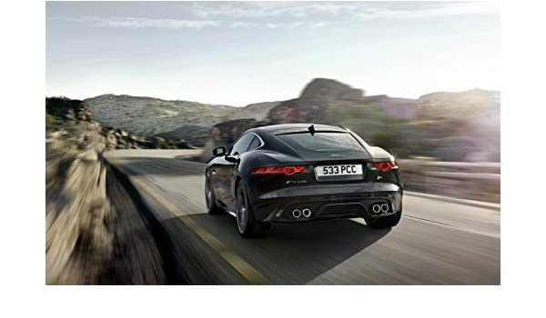 Amazon.com: Jaguar F-Type R Coupé (2013) Car Art Poster Print on 10 mil Archival Satin Paper Black Rear Side Motion View 16