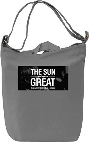 The Sun Borsa Giornaliera Canvas Canvas Day Bag| 100% Premium Cotton Canvas| DTG Printing|