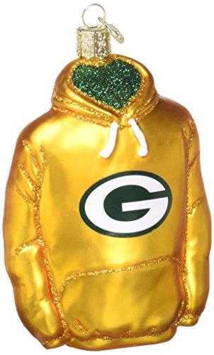 Old World Christmas Green Bay Packers Hoodie Glass Blown (Bay Hoody)