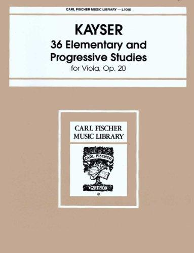 (L1065 - 36 Elementary and Progressive Studies, Op. 20 For Viola)