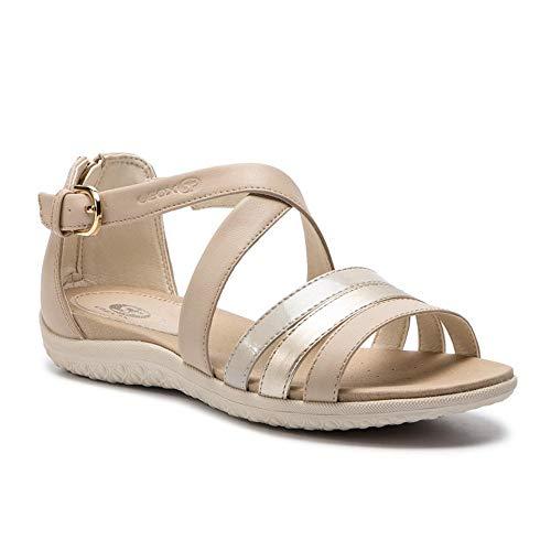 Beige D 054aj D92r6b De c5379 En Vega Mujer Cuero Sand Zapatos Sandalias Geox B UvRZqxF