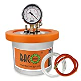 BACOENG 2 QT Stainless Steel Resin Trap Vacuum Degassing Chamber (3 Gallon/1.2 QT/2 QT Available)