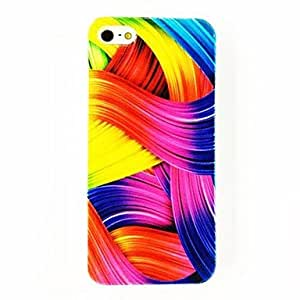 RC - Colorful Strip Rainbow Pattern TPU Soft Case for iPhone 4/4S , Multicolor