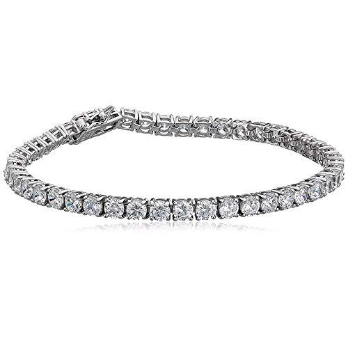 MTWTMスターリングシルバージュエリーファッションワイルドダイヤモンドローマスタイル女性の銀器、18センチローマブレスレット   B07JJY5TT8
