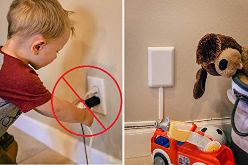 Sleek Socket Ultra-Thin Child Proofing Electrical Outlet Cover with 3 Outlet Power Strip and Cord Cover Kit, 9-Foot, Standard Size