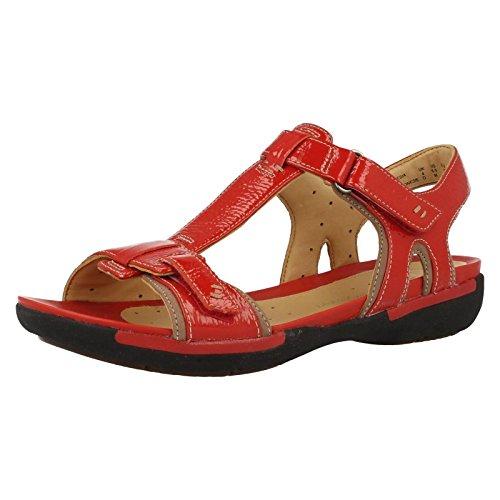 Clarks Un Voshell - Sandalias de Vestir de cuero mujer rojo