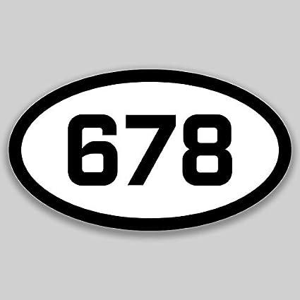 Amazon com: DHDM 678 Area Code Sticker Georgia Atlanta