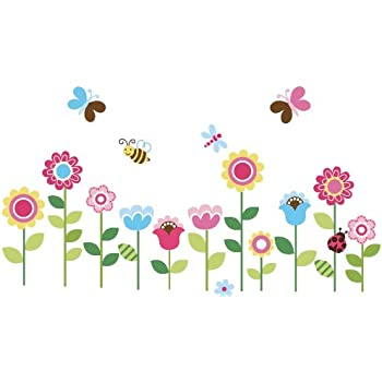 Roommates rmk1649scs love joy peace peel stick wall for Plantas decorativas amazon